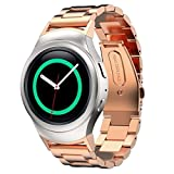 Samsung Gear S2 Watch Band Linkshare Stainless Steel Watch Band + Connector For Samsung Galaxy Gear S2 SM-R720/R730 Rose Gold