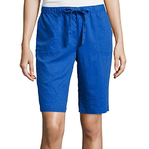 Liz Claiborne Linen-Blend Shorts Size XL Dazzling Blue