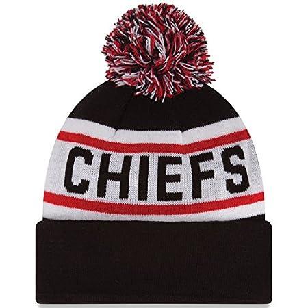 fb28a78db42 Amazon.com   New Era Knit Kansas City Chiefs Biggest Fan Redux Sport Knit  Winter Stocking Beanie Pom Hat Cap NFL   Sports   Outdoors