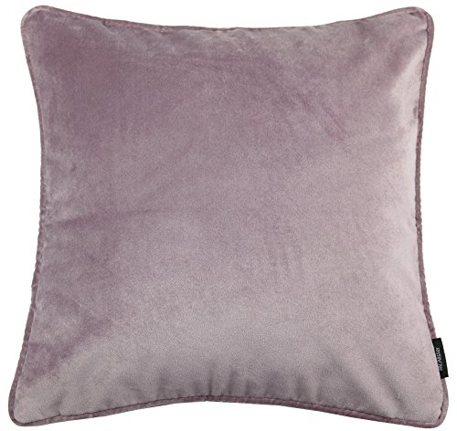McAlister Textiles Matt Velvet | Pillow Cover Case in Heather Purple | Square 16x16 Inches | Lush & Plush Luxury Throw Cushion Sham Piping Modern Decor for Sofa Couch