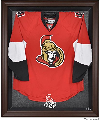 Ottawa Senatorsブラウンフレーム入りロゴジャージーDisplayケース
