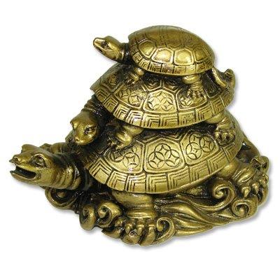 Feng Shui Three Turtles - Oriental Dragon Pendant