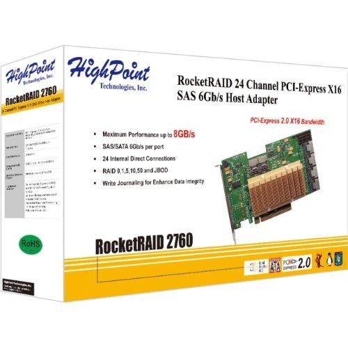 HighPoint ROCKETRAID2760A RocketRAID 2760 SAS PCI Express RAID Mini-SAS non-Cable Controller Card