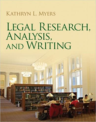 Legal Research and Writing Analysis