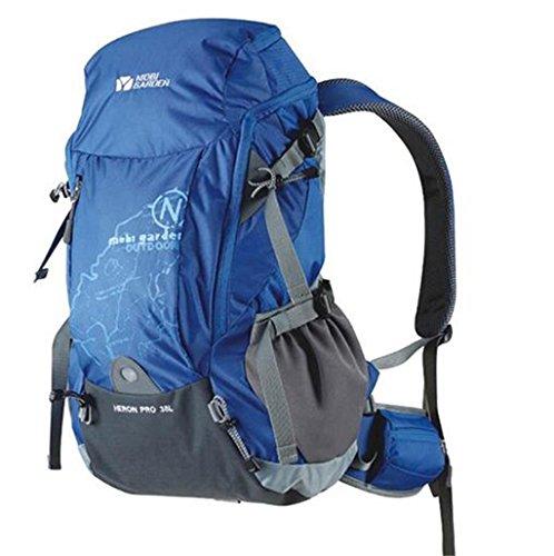 Los modelos de pareja equipo al aire libre cubierta de montañismo viajes de camping mochila 38L lluvia ( Color : Amarillo , Tamaño : 38L ) Azul
