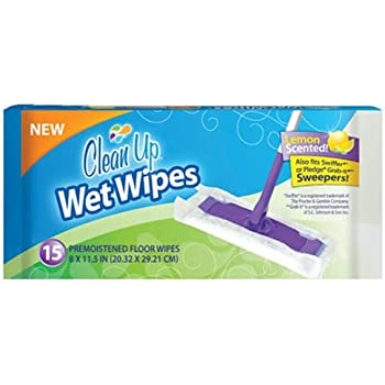 Amazon Com Clean Up Wet Floor Wipes 15 Pack Home Amp Kitchen