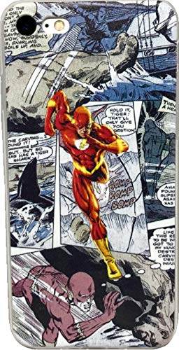 ECHC TPU Flexible Comic Book Superhero Case Compatible for iPhone (Flash, 6 Plus) (Case The Iphone Flash 6)