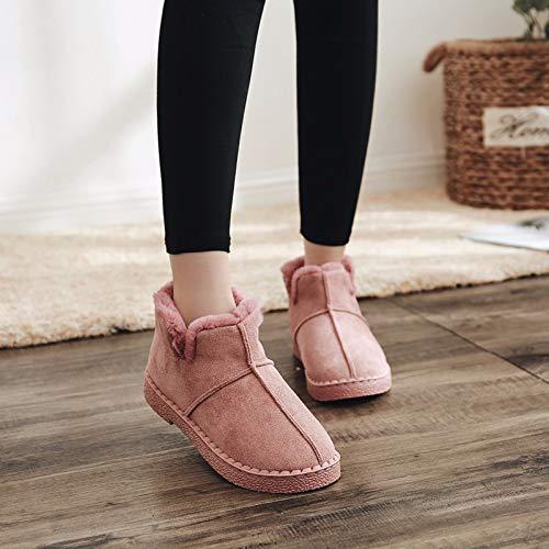 E Algodón Rojo Versión Coreana Anti Femeninas Invierno Xiaogegemt Cálido esquíes Botas Zapatos De Femenina Cortas Otoño wBqAPXZ0