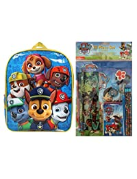 Paw Patrol Backpack, 2 Folders, Notebook, Pencil Pouch, Sharpener, Pencils, Memo Pad