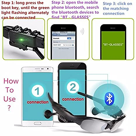 Amazon.com: Sport Stereo Wireless Bluetooth Headset 4 Colorful Sun Lens Earphones Sunglasses Mp3 Riding Glasses for Lenovo Sony Xaomi: Cell Phones & ...