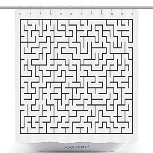 Fun Shower Curtains Vector Illustration Of Maze Labyrinth Isolated On White Background Eps 278800979 Polyester Bathroom Shower Curtain Set With (Labyrinth Halloween Costumes For Sale)