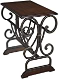 Signature Design by Ashley T017-329 Contemporary Chairside End Table, Brown