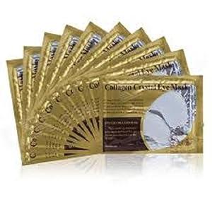 Palestren Lot de 20 patchs gel anti-âge/anti-rides pour le contour des yeux Hydratant visage Atténue les cernes Blanc