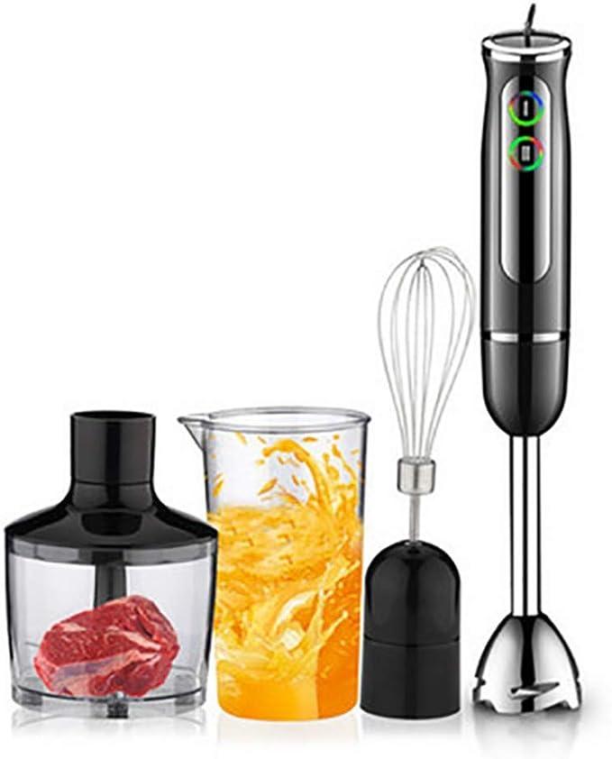 Batidora De Mano 6 en 1 portátil inmersión mano licuadora para cocina procesador de alimentos eléctrico Kitchenaid licuadora batidora: Amazon.es: Hogar
