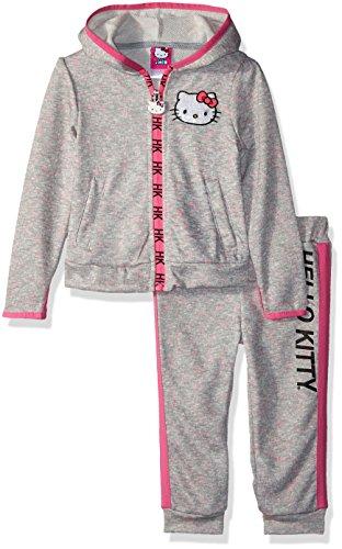 Hello Kitty - Conjunto de 2 piezas para bebés y niñas, Heather Gray, 12m