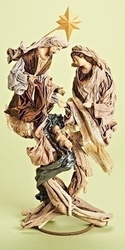 Roman 31672 24'' Holy Family Driftwood Look