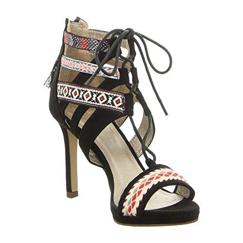 BULLBOXER 059011f2t Bkmc - Sandalias de vestir para mujer multi color/black