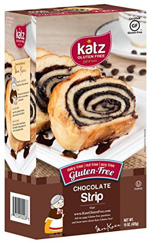 Katz Gluten Free Chocolate Strip, 15 Ounce, Certified Gluten Free - Kosher - Dairy, Soy, & Nut free - (Pack of 1)