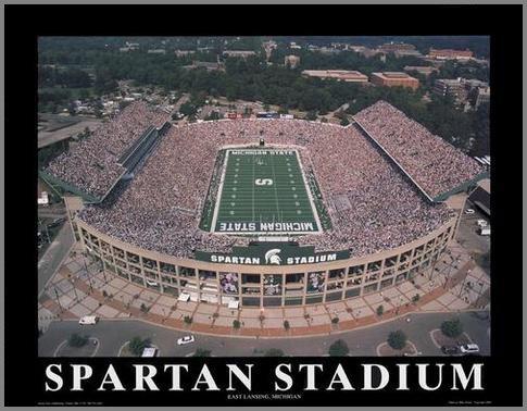 Michigan State Spartans Stadium Aerial - 5