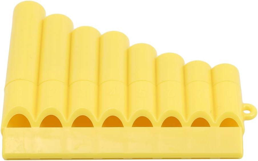 Mvude Instruments de Musique en Plastique de fl/ûte de pan de 8 tuyaux Rose