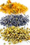 Herbal Bath Tub Tea Blend of Herbs : Helichrysum Italicum - Lavender - Chamomile / Pack of 3