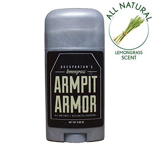 Natural Lemongrass Deodorant - Chemical Free Pit Paste Deodorant Lemongrass Armor to Cover Odor - Doc Spartan Natural Deodorant ()