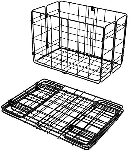Wald 582 Folding Pannier Wire Baskets for Rear Rack Black White or Chrome 2