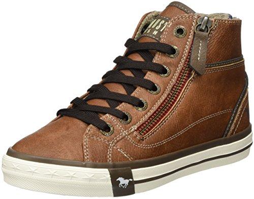 Mustang Unisex-Kinder 5036-502 Hohe Sneakers, Braun (301 Kastanie), 35 EU