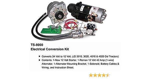 Amazon Com John Deere Alternator Starter Conversion Kit 3010 3020