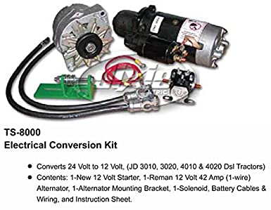amazon com john deere alternator starter conversion kit 3010 3020 John Deere 3010 Tractor Starter Wiring image unavailable image not available for color john deere alternator starter conversion kit 3010
