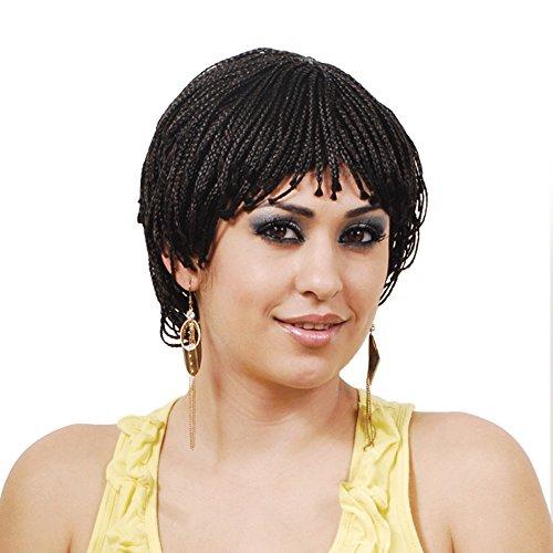 Synthetic Braided Short Wig (2-dark brown) (Brown Braided Wig)