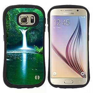"Hypernova Slim Fit Dual Barniz Protector Caso Case Funda Para Samsung Galaxy S6 [Cascada fresca de primavera""]"