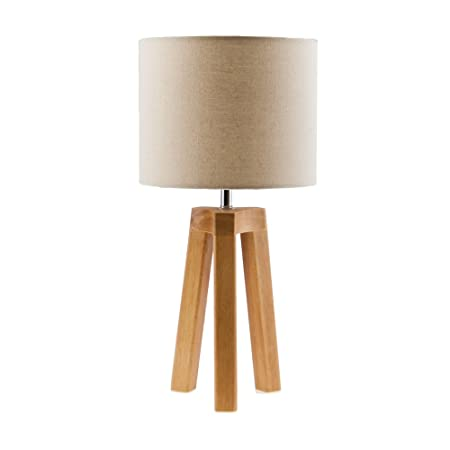 Wood Tripod Table Lamp Amazon Co Uk Kitchen Home
