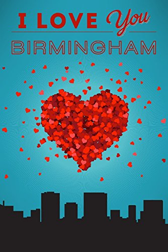 (I Love You Birmingham, Alabama (9x12 Art Print, Wall Decor Travel Poster))