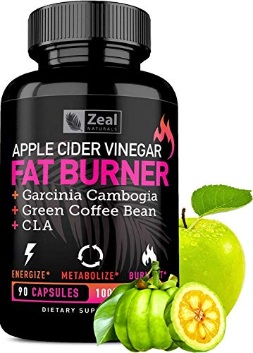 Apple Cider Vinegar Weight Loss Pills for Women - Garcinia Cambogia + Apple Cider Vinegar Pills for Weight Loss w. CLA & Green Coffee Bean Green Tea Fat Burner Pills - Detox Cleanse Weight Loss Pills (The Best Pills To Lose Weight Fast)