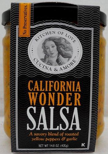 Cucina & Amore Salsa California Wonder, 14.5 Oz. Case Of 6