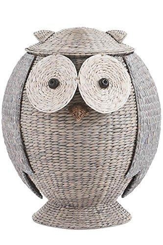 Owl Bathroom Hamper, 28''Hx22''Wx21.7''D, GREY by Home Decorators Collection