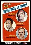 1971 Topps # 150 ABA Rebounds Leaders Mel Daniels / Mike Lewis / Julius Keye Pacers / Rockets / Condors (Basketball Card) Dean's Cards 3 - VG Pacers / Rockets / Condors