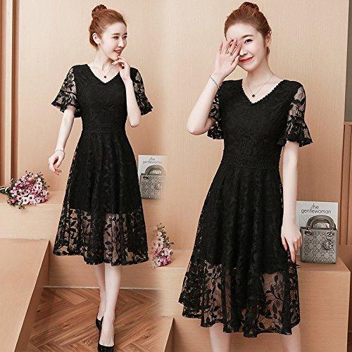 Une 2018 Jupe Femme Manches l't Style Courtes S Jupe Black creus Long de Robes MiGMV de Nouveau Robe xqwnfZZB