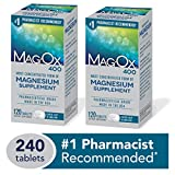 Mag-Ox 400 Magnesium Mineral Dietary Supplement Tablets, 483 mg Magnesium Oxide, 240 Count, Pharmaceutical Grade