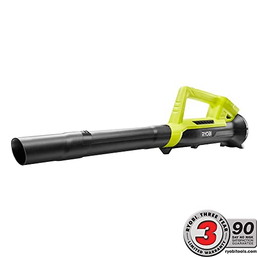 Ryobi ONE 90 MPH 200 CFM 18-Volt Lithium-Ion Compact, Lightweight, Cordless Leaf Blower – Battery and Charger Not Included