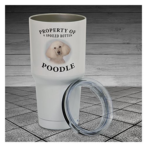 30 Ounce Tumbler Poodle Cream Property Of Tumbler Cup Pet Lover Gift, Dog Lover Gift, Gift For Her, Gift For Him, Work Cup