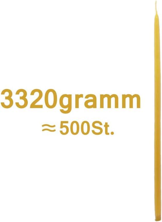 NKlaus 6,6kg ca. 1000 St. Kerzen 100/% Bienenwachs 22cm Handarbeit Griechenland 36320