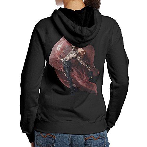 Lindsey Stirling Brave Enough Women's Fleece Hooded Sweatshirt Black L