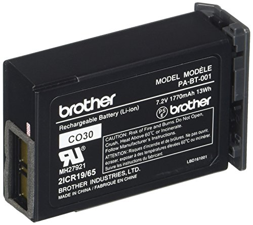 Amazon Brother Mobile Pa Bt 001 B Rechargeable Li Ion Battery