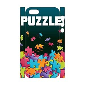 Durable Rubber Cases iphone5 5S 3D Cell Phone Case White Lhvzy Jigsaw Puzzle Protection Cover