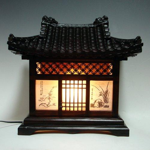 Wood Lamp Shade Handmade Traditional Korean House Design