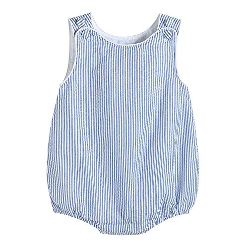 Lil Cactus 34312011092 Boys Bubble Romper Dark Blue ()