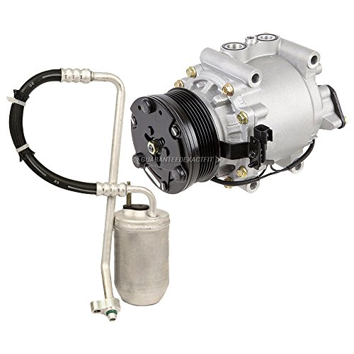 Premium Quality New AC Compressor & Clutch With A/C Drier For Ford & Mercury - BuyAutoParts 60-86467R2 New (Ac 2006 Ford Freestyle Compressor)