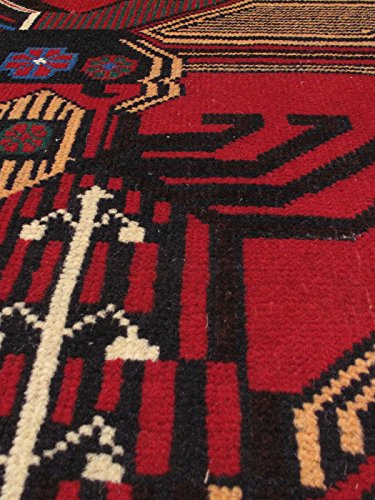 """New Afghan Khandahar Finest Style Red Rug 2'10"""" x 4'3"""" ecarpetgallery Area Rug Traditional, Tribal Hand-knotted Carpet"""